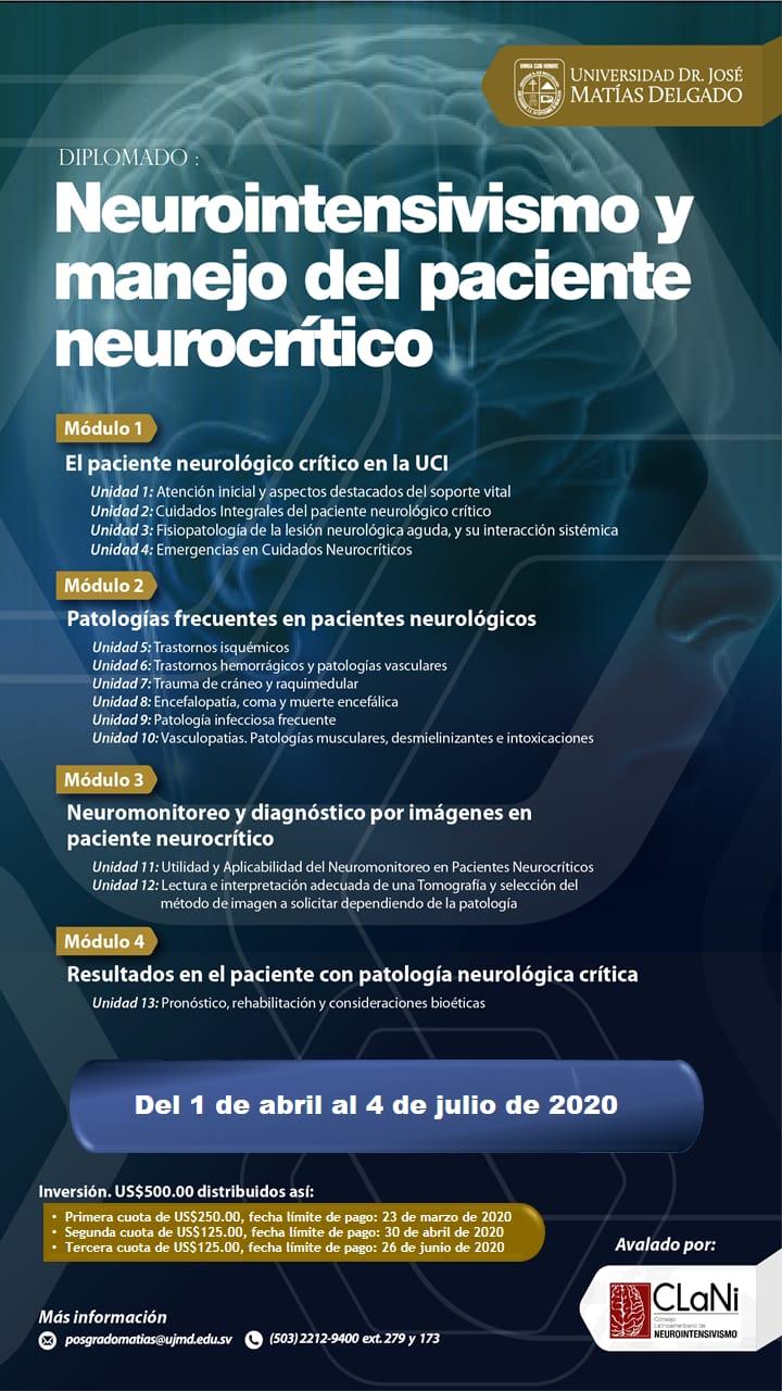 Diplomado y manejo del paciente neurocritico